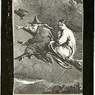 """""""Witching Sie ein Happy Halloween"""" Vintage Frame von lollylocket"""