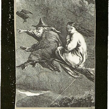 """""""Witching You a Happy Halloween"""" Vintage Frame by lollylocket"""