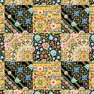 Crazy Crazy Patchwork Quilt by PatriciaSheaArt