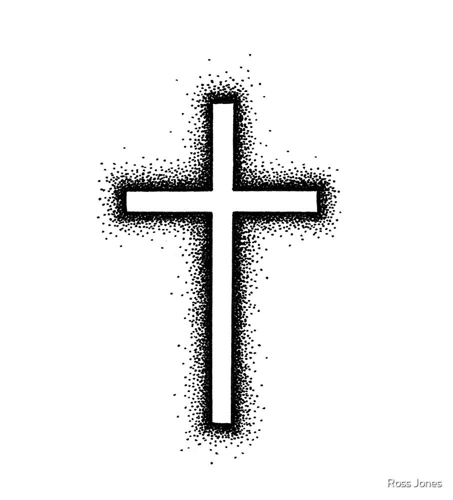 Cross - Black by Ross Jones