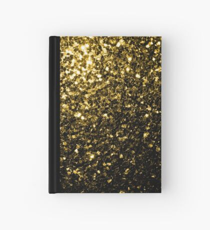 Beautiful Yellow Gold glitter sparkles Hardcover Journal