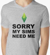 Camiseta para hombre de cuello en v Mis Sims me necesitan | Los Sims