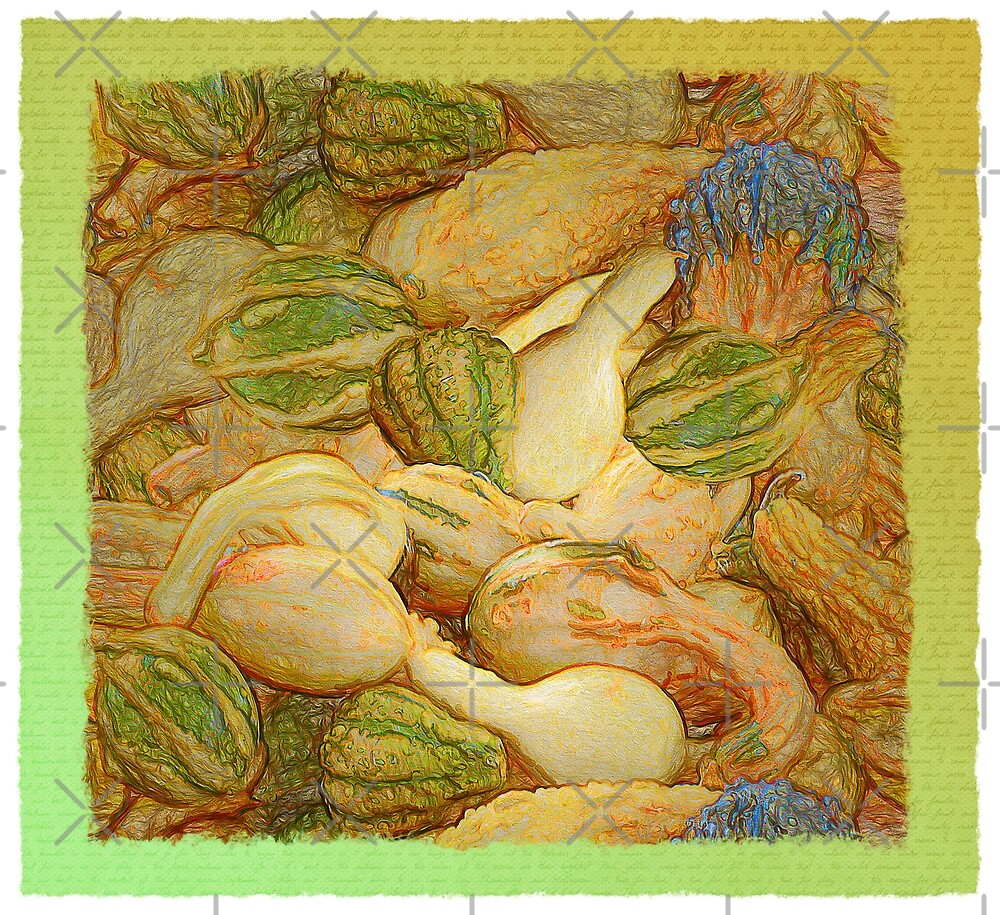 Pile O Gourds - Framed by Leslie Montgomery
