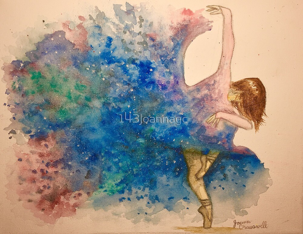 Watercolored Galaxy-Dress Ballerina by 143joannagc