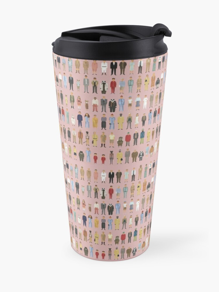 Alternate view of Wes Anderson Characters Travel Mug