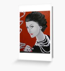 COCO CHANEL Greeting Card