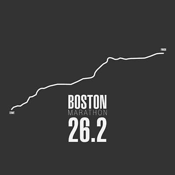 Boston Marathon Course Map by Confundo