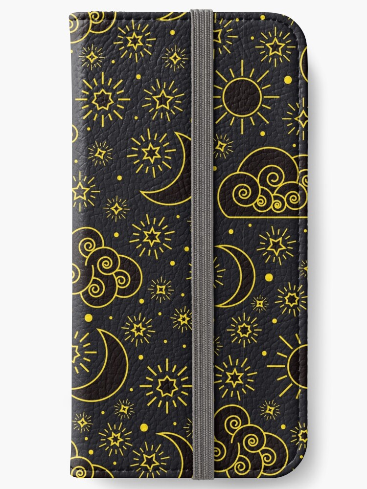 Sky seamless pattern with stars clouds sun and moon  by Darcraft28