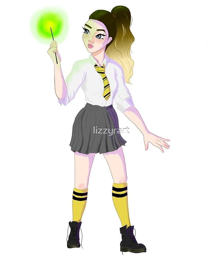 schoolgirl witch (yellow) by lizzyrart