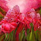 Tropic Garden - Torch Ginger by Carol  Cavalaris