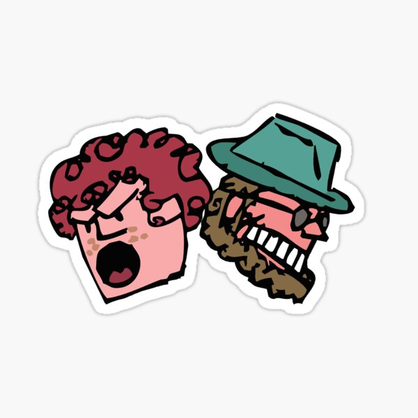 Player and Doodler Heads Sticker