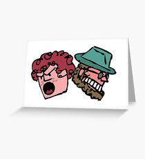 Player and Doodler Heads Greeting Card