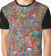 PopArt Wimmelbild - The Incredible Adventures Graphic T-Shirt