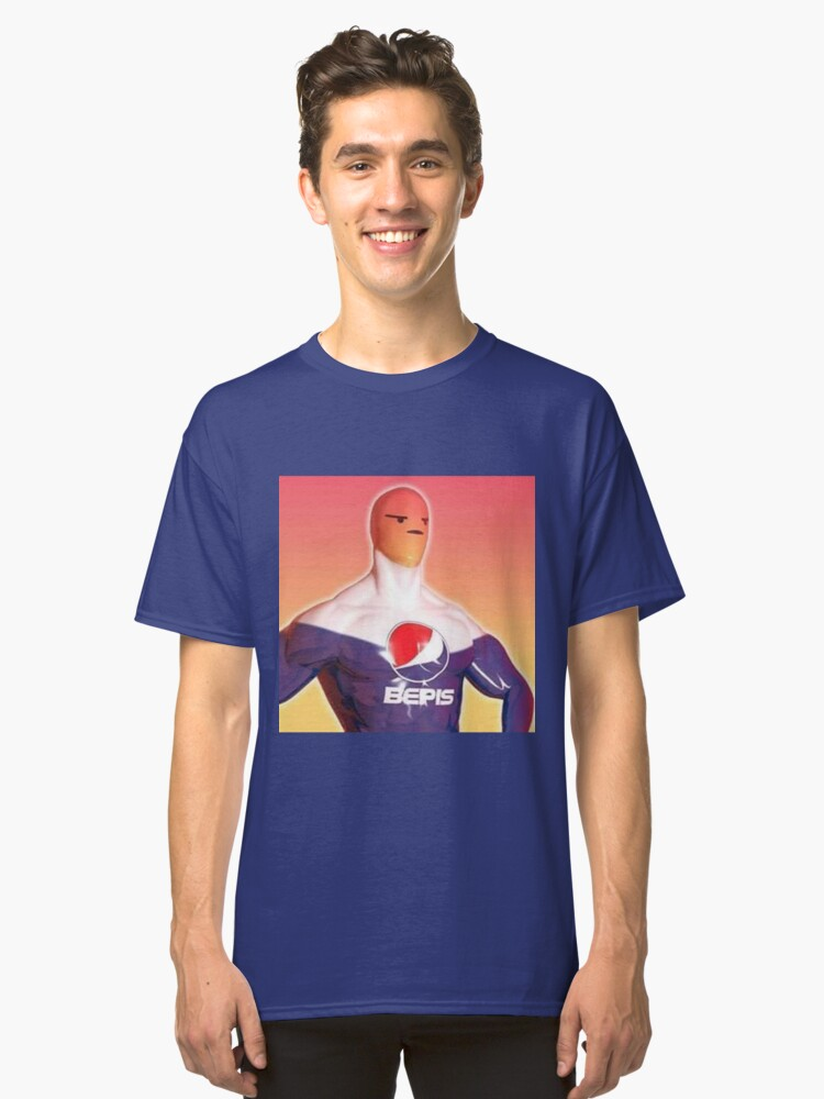 Angry Pepsi Man Classic T-Shirt Front