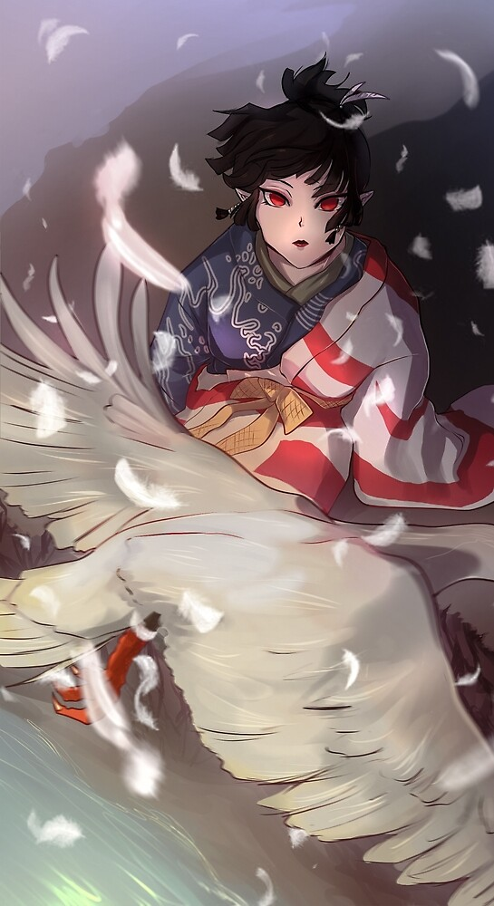 Kagura the free wind - poster by Postapokalypso