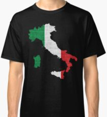 Italy Flag Map Classic T-Shirt