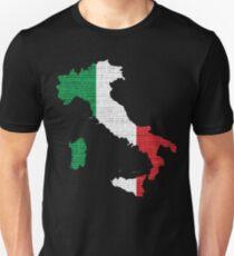 Italy Flag Map Unisex T-Shirt
