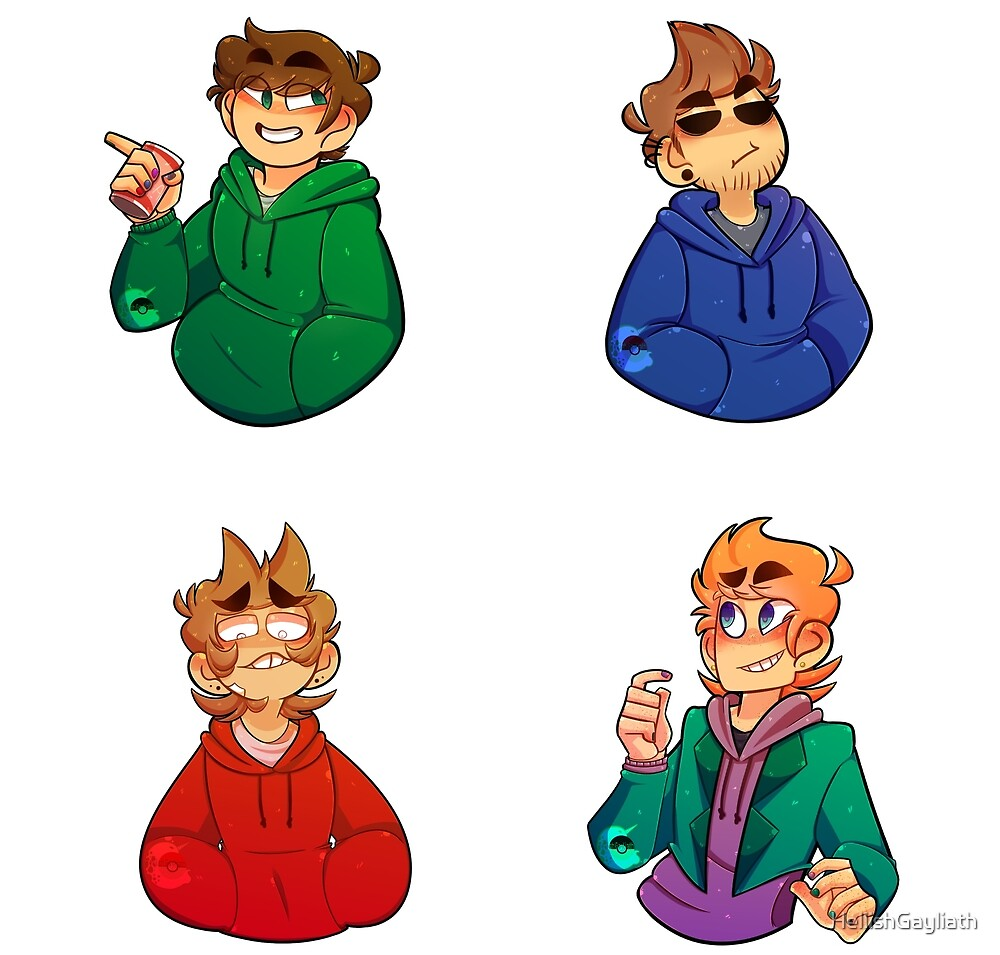 Eddsworld Sticker Pack by HellishGayliath