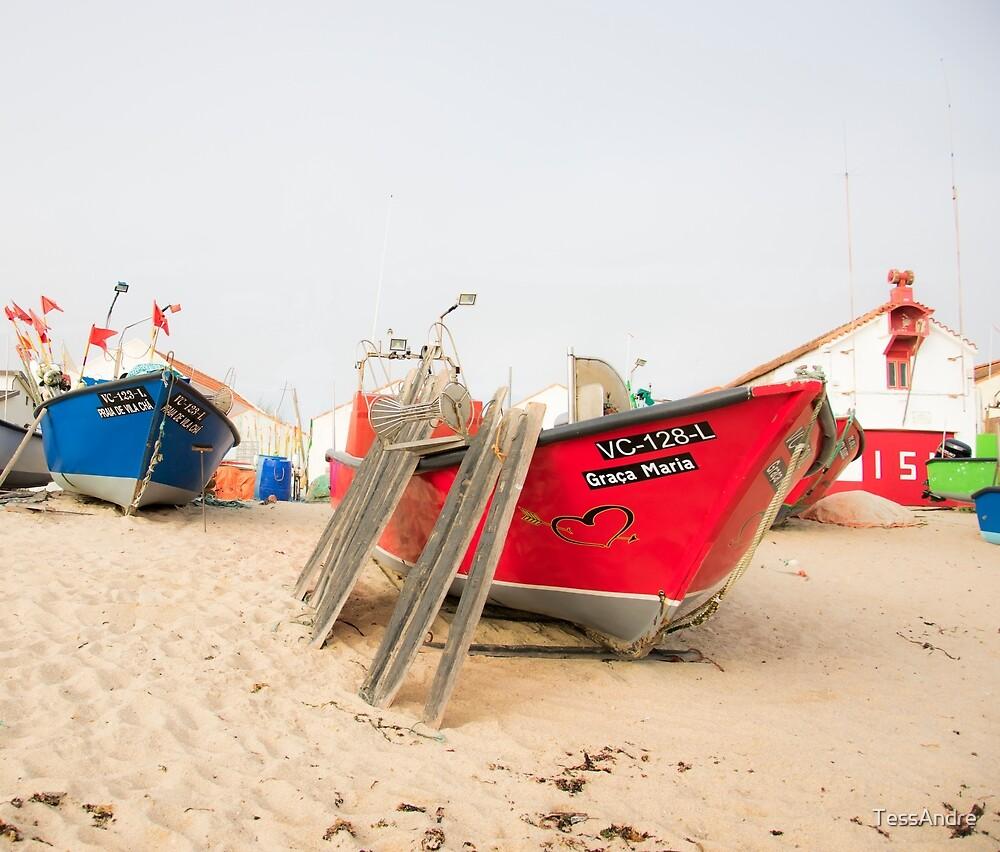 Fishing boats II by TessAndre