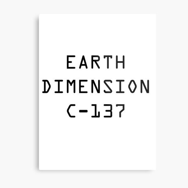 Earth Dimension C-137 Metal Print
