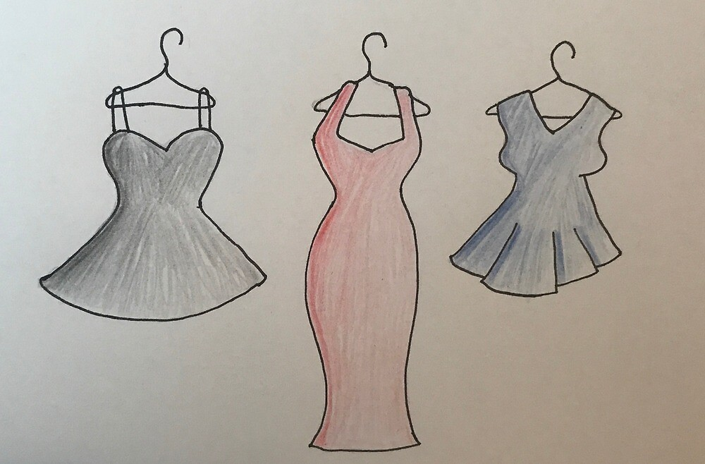 Party Dresses by janicesart