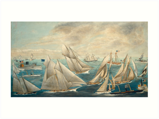Imaginary Regatta of America's Cup Winners, 1889 by fineearth