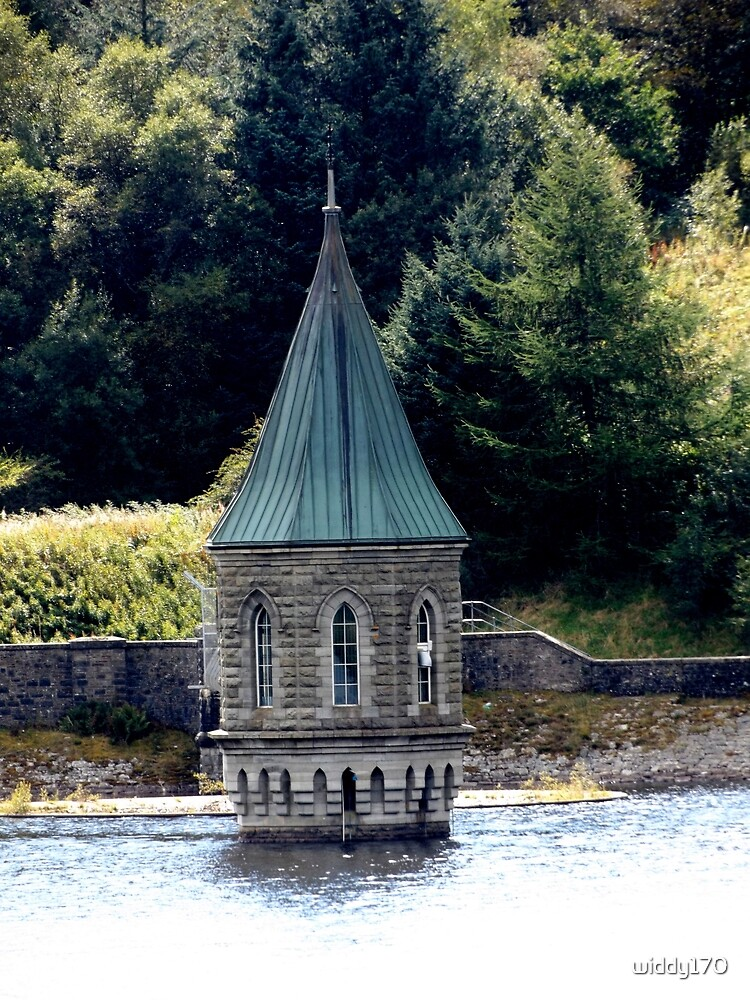 Pontsticill Reservoir Old Valve Tower by widdy170