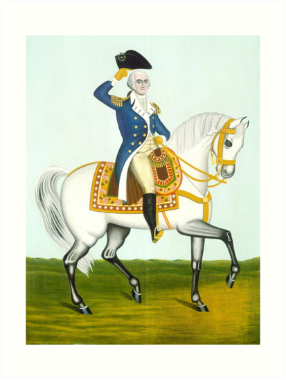 General Washington on a White Charger, 1835 by fineearth