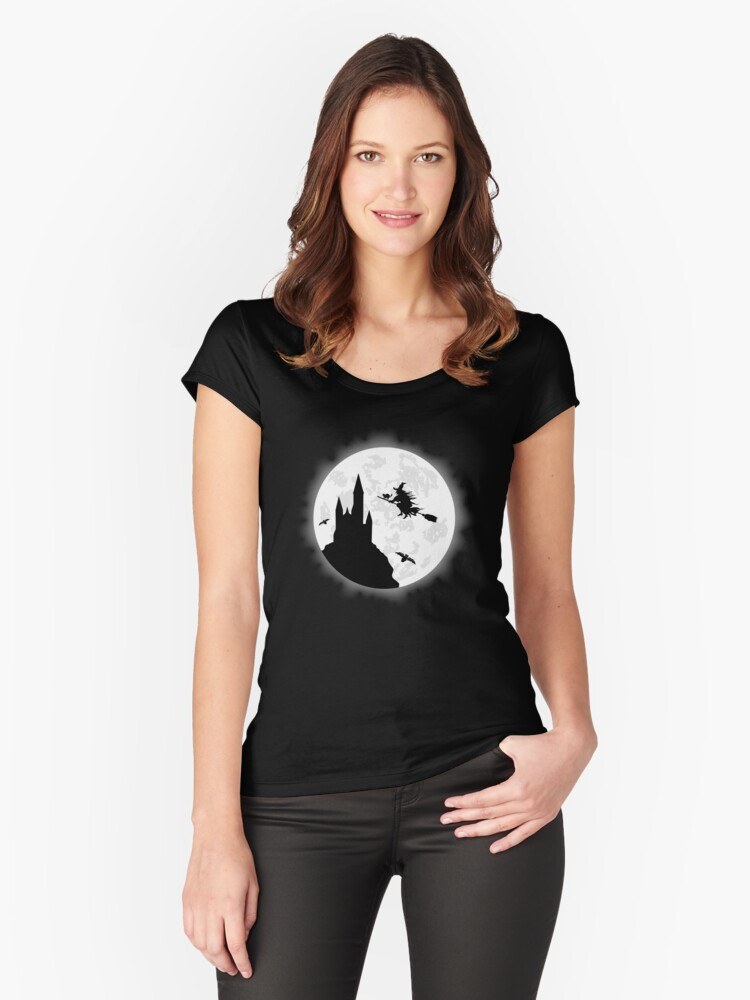 Witch Apparel For Witch Halloween Shirt Women's Fitted Scoop T-Shirt Front