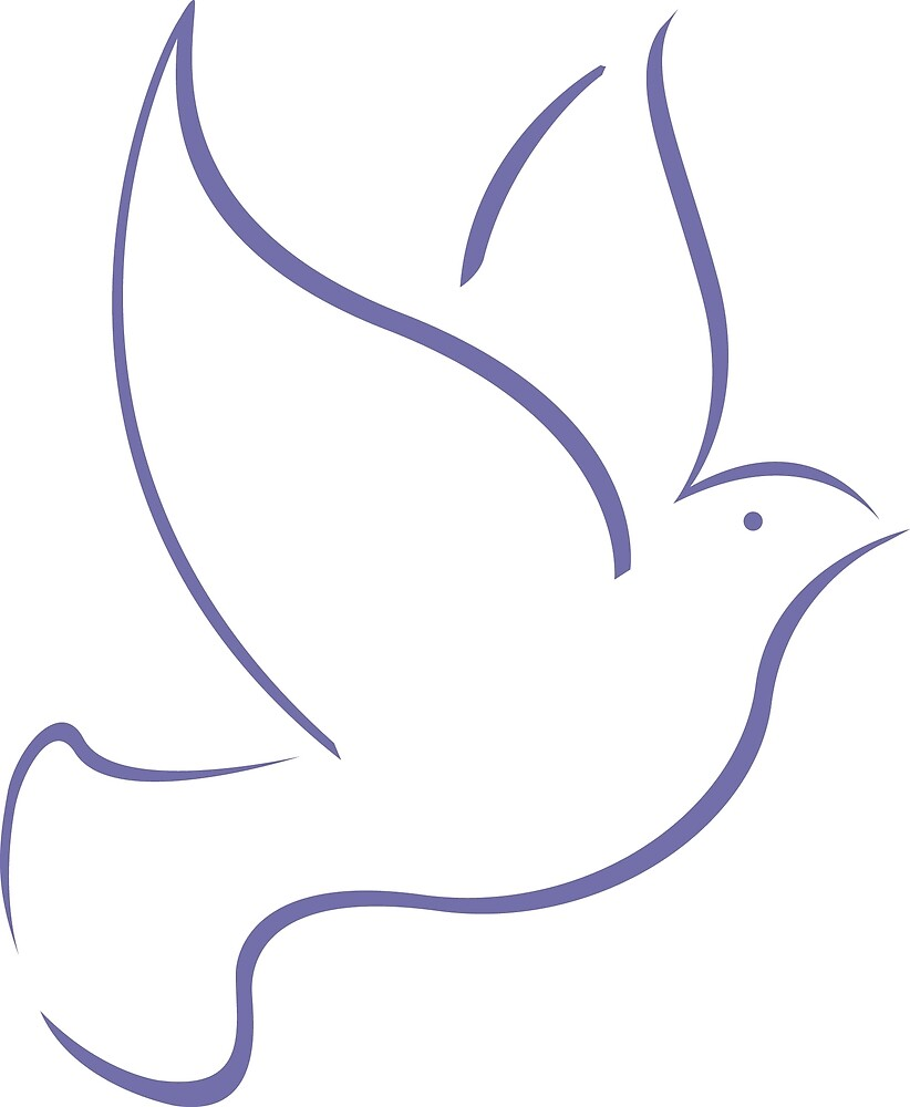 Dove (Purple) by Richard Wagner