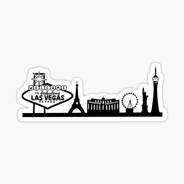 Las Vegas Skyline, Hand drawn Sticker