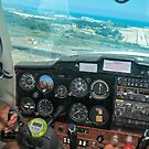Pilot flying a Cessna plane  by PhotoStock-Isra