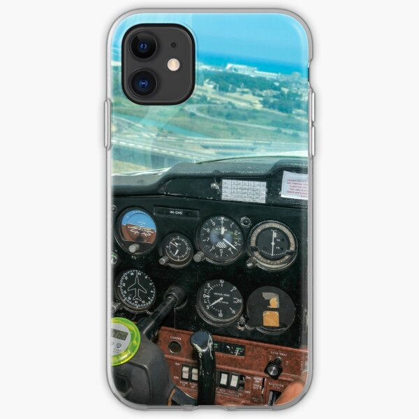 Pilot flying a Cessna plane  iPhone Soft Case