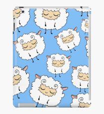 Sweet, furry, funny, dream sheep. Seamless, cartoon, vector pattern. Graphics for web design, textiles, fabrics. iPad Case/Skin