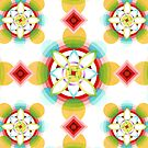 Geometric Blossoms by PatriciaSheaArt