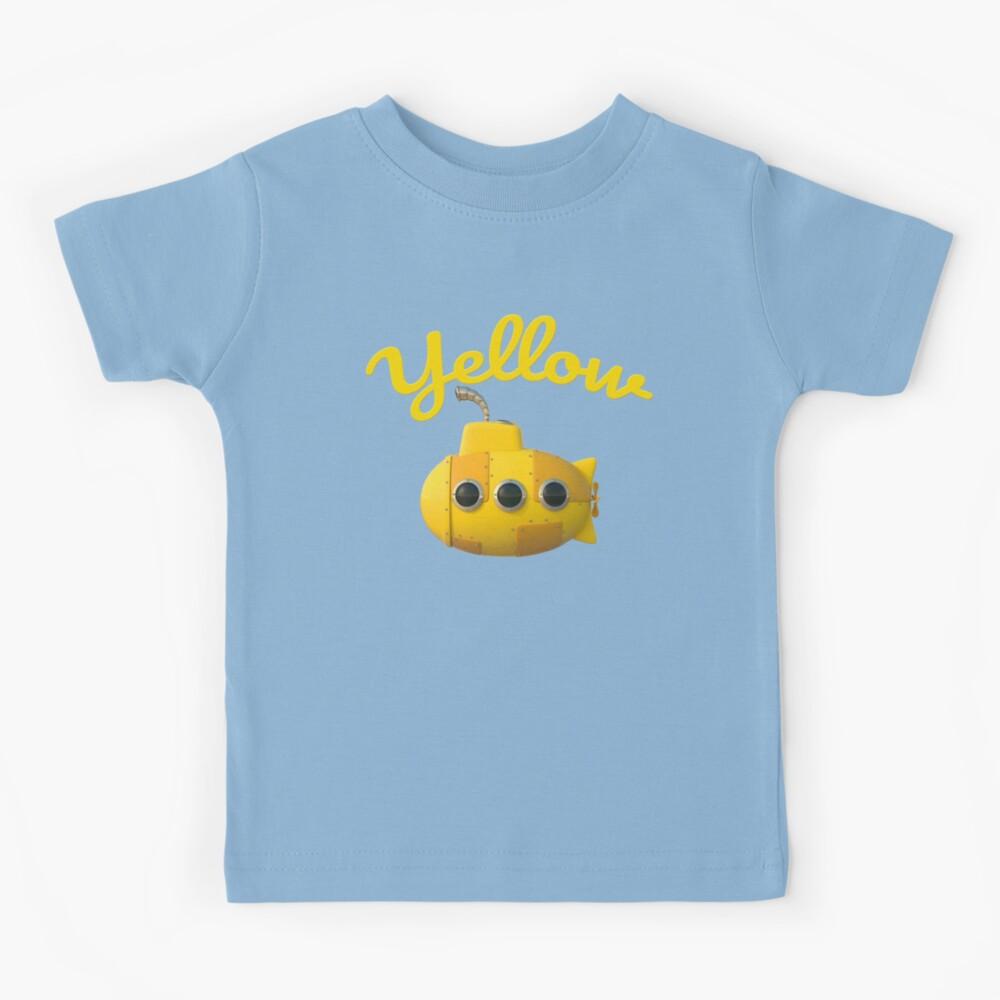 Cute cartoon yellow stylized Toy Submarine Camiseta para niños