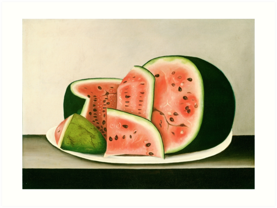 Vintage Watermelon Pain by fineearth