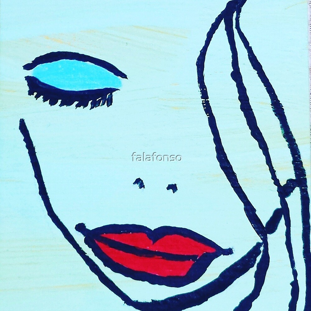 Miss Diva Abstract Female Face by falafonso