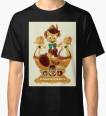 Pinocchio - Retro Poster Classic T-Shirt