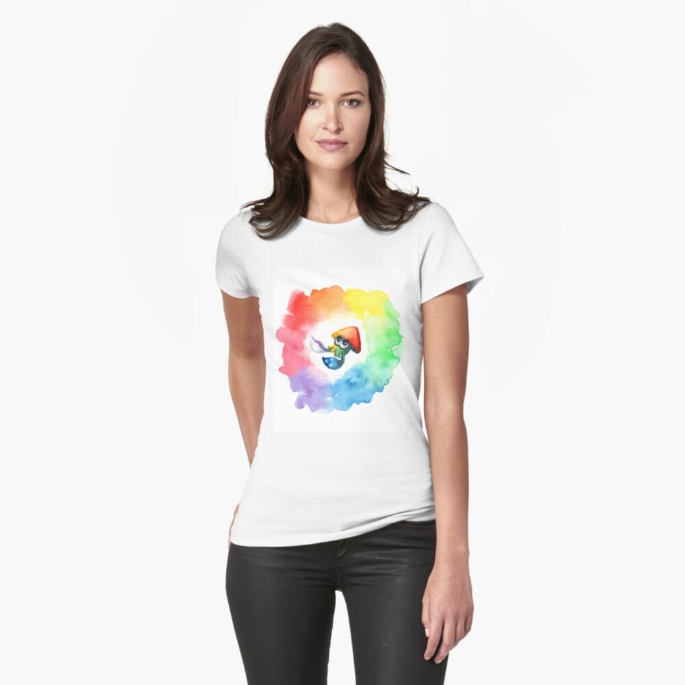 Be Proud, Squid Kid - Rainbow Pride Inkling Womens T-Shirt Front
