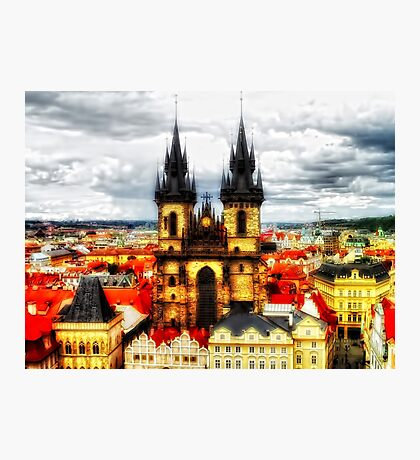 Prague Church Of Our Lady Before Tyn Photographic Print
