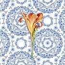 Daylily Blue Rhapsody by PatriciaSheaArt