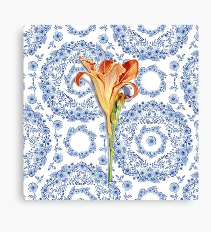 Daylily Blue Rhapsody Canvas Print