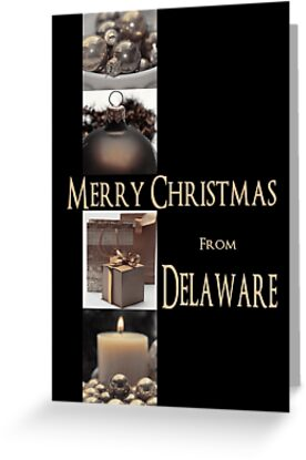 Christmas Collage Card from Delaware by Sabbia-Natale