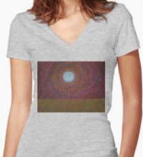 The Difficulty of Crossing a Field original painting Women's Fitted V-Neck T-Shirt