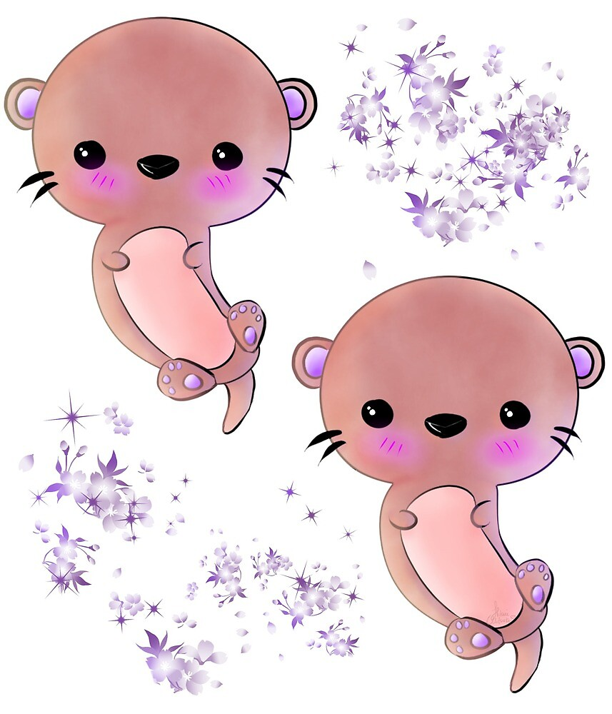 Otter-rific Pink by Hikarimitsuko