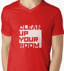 Clean up your room - JBP Men's V-Neck T-Shirt