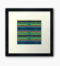 Primary Stripes Framed Print