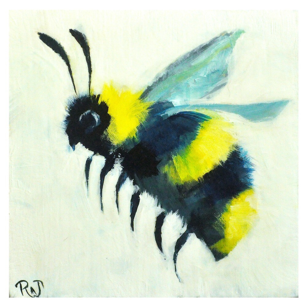 Painted Bee  by RAJillustration