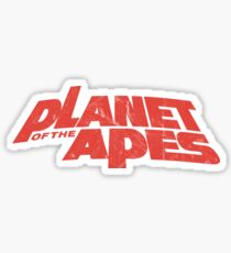 Planet of the Apes vintage red logo 1968 Sticker